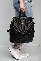 Сумка-рюкзак Sambag Трейси 30*31*15 см черный