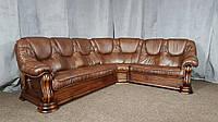 """Кожаный угловой диван """"Grizly"""" Гризли, итальянская кожа, фото 1"""