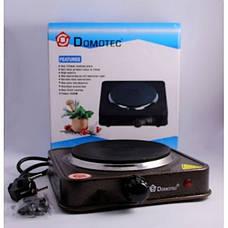 Электроплита Domotec MS-5821 1000Вт | Плита настольная дисковая, фото 3