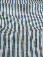 Льняная костюмная ткань в полоску, фото 1