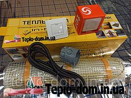 Тонкий  мат для обогрева пола In-Therm 170w (0,8 м.кв.) с сенсорным регулятором Terneo S
