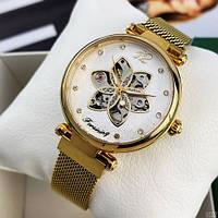 Модные механические женские часы Forsining 1171 Gold-White