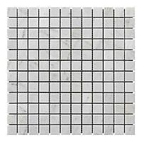 Мраморная мозаика мрамор White Mix (23х23x6 мм) Полированная