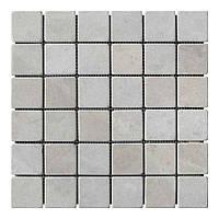 Мраморная мозаика мрамор Victoria Beige (47х47x6 мм) Стареная/Валтованная