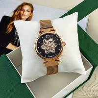 Женские модные механические часы Forsining 1171 Cuprum-Black