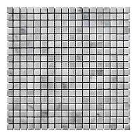 Мраморная мозаика мрамор White Mix (15x15x6 мм) Стареная/Валтованная