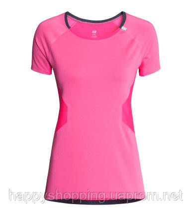 Розовая спортивная футболка H&M