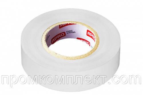 Изолента 0,14ммx17ммx10м белая (универсальная) (упаковка — 10 шт.) APRO