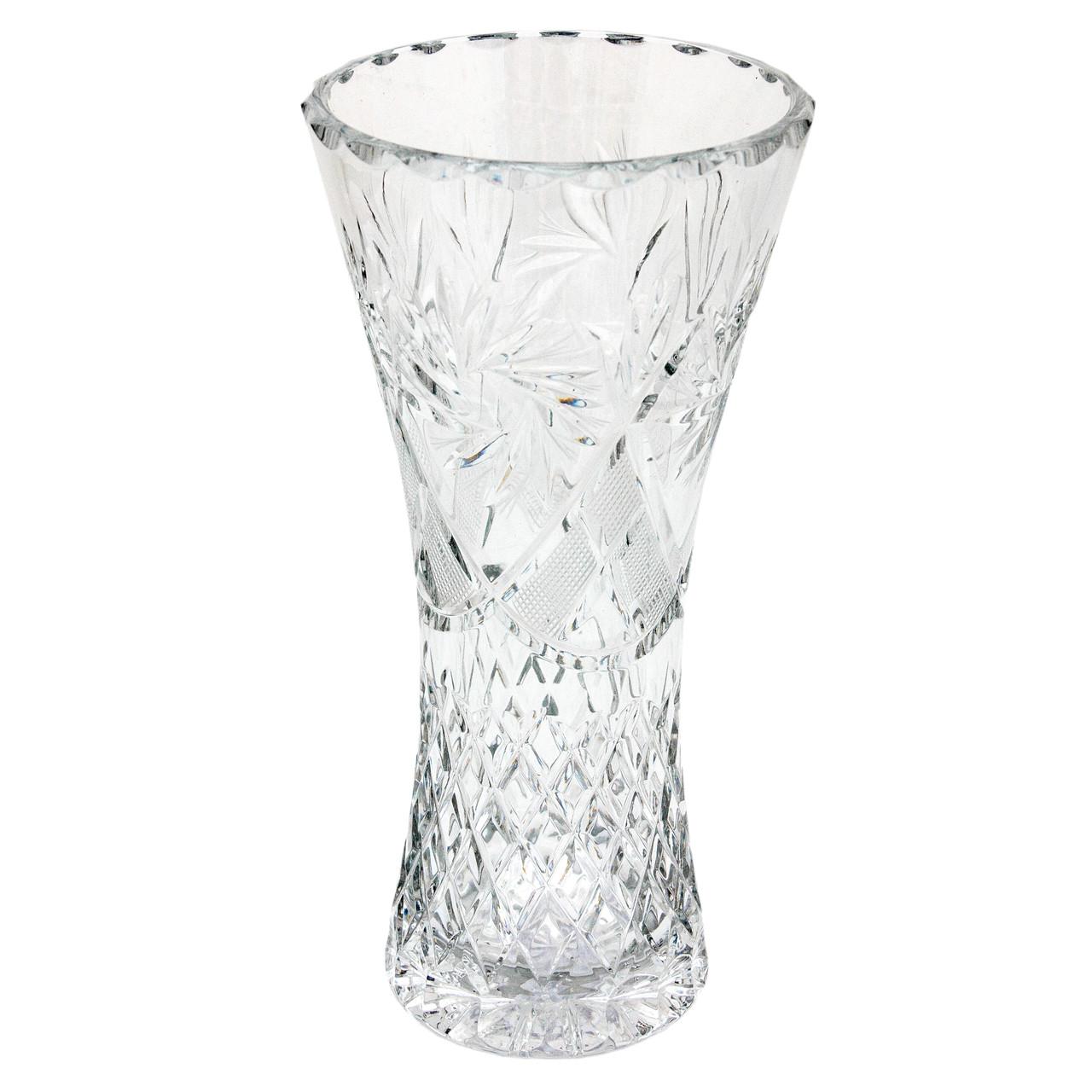 Хрустальная ваза для цветов, 26,5 см (6210)