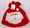 Мешок красный карнавальный с дедом морозом, из фетра, 52*31 см, (460854), фото 2