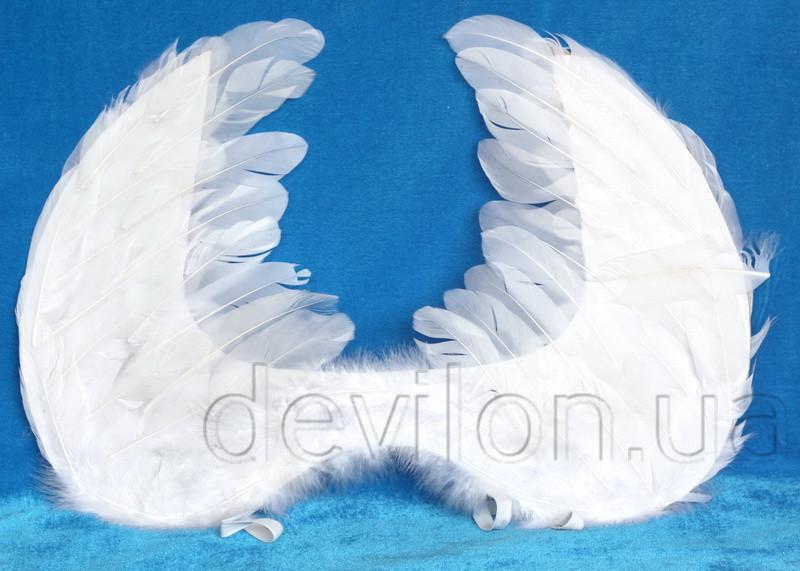 Карнавальный аксессуар - крылышки ангела, 54*35 см, натуральные перья (461257)