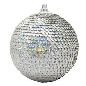 Ялинкова прикраса у формі кулі, срібло (661497-1)