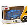 Іграшка дитяча - Автобус 1:36, інерційний, музичний, 8*5*4 см, синій, метал (A872784MK-W-3), фото 2
