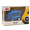 Игрушка детская - Автобус 1:36, инерционный, музыкальный, 8*5*4 см, синий, металл (A872784MK-W-3), фото 2