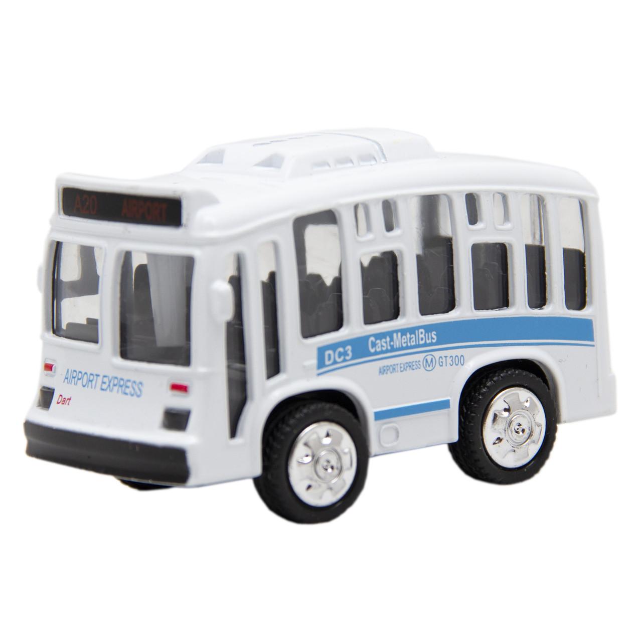 Іграшка дитяча - Автобус 1:36, інерційний, музичний, 8*5*4 см, білий, метал (A872784MK-W-1)