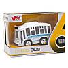 Іграшка дитяча - Автобус 1:36, інерційний, музичний, 8*5*4 см, білий, метал (A872784MK-W-1), фото 2