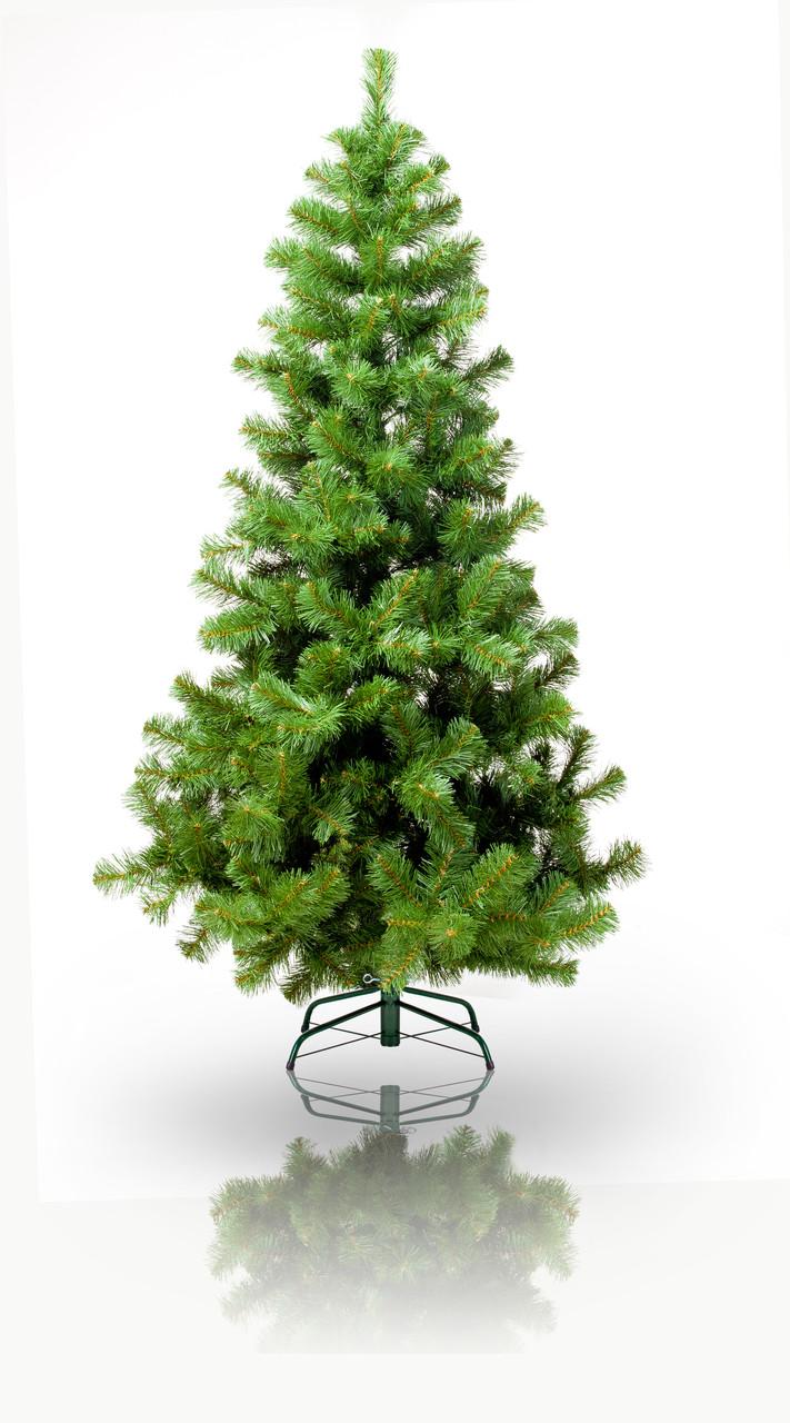 Елка искусственная - Роксана, 180 см, из двух частей, металлическая ножка, сосна, зеленый, ПВХ (МР-180)