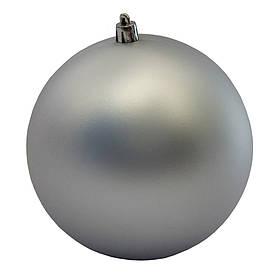 Куля пластикова матова d-12см, срібло (890858)