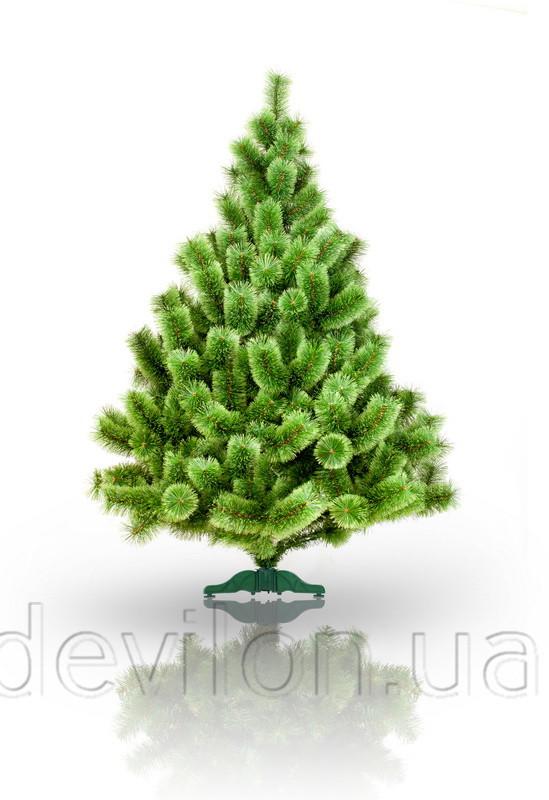 Сосна искусственная - Эвелин, 210 см, из 2 частей, металлическая ножка, сосна, зеленый, леска (ВМ-210)