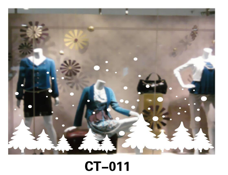Новорічна прикраса - наліпка на вікно, 64*80 см, білий, ПВХ, PET (080631-CT-011)