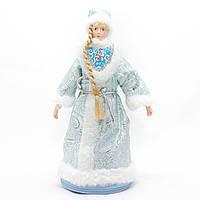 Новогодняя сувенирная фигурка Снегурочка, 28 см, бирюзовая (180486-1)
