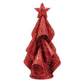 Настольная елка, 15 см, красный, проволока (001309-3)