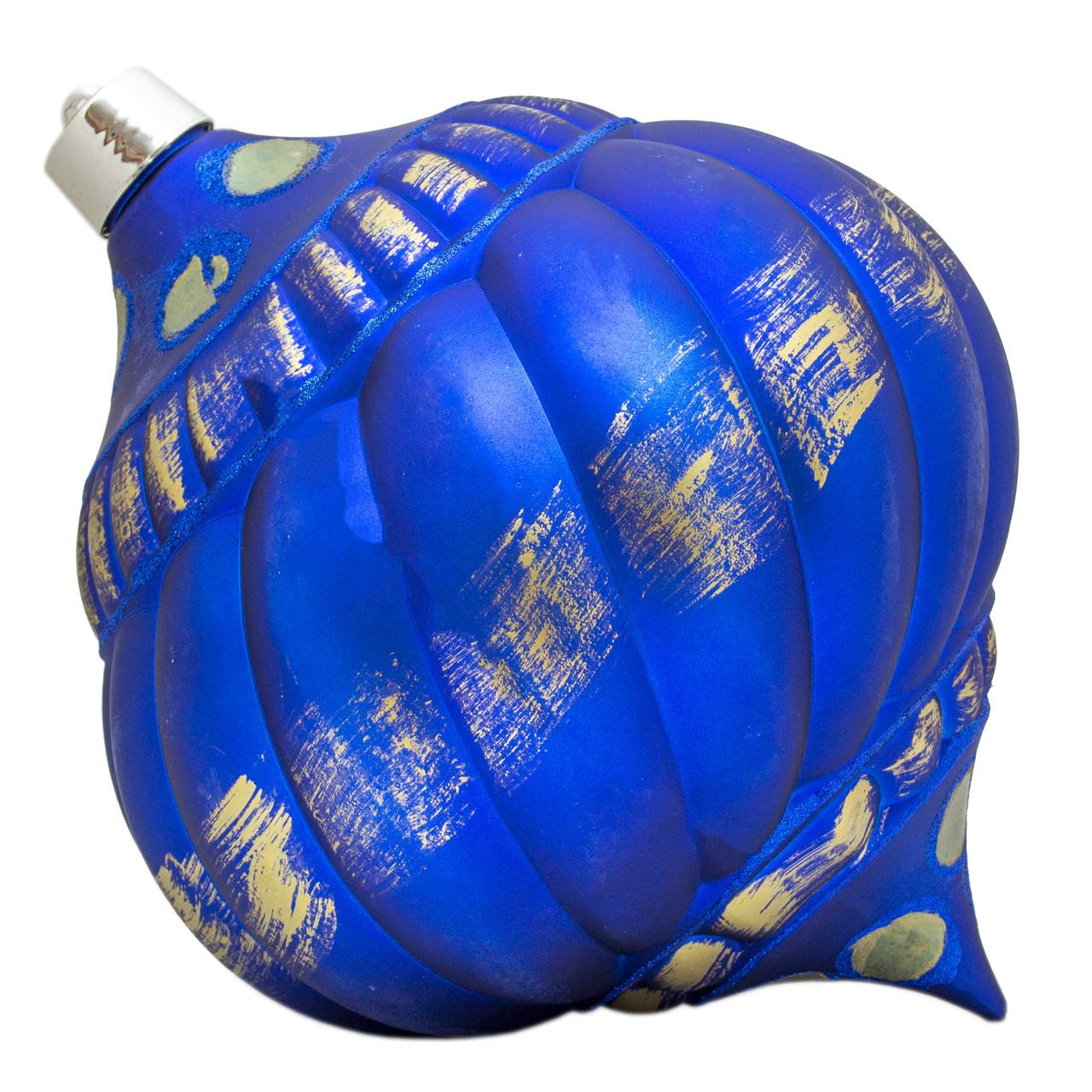 Большая елочная игрушка - тыква, 30 см, пластик, синий (030552-4)