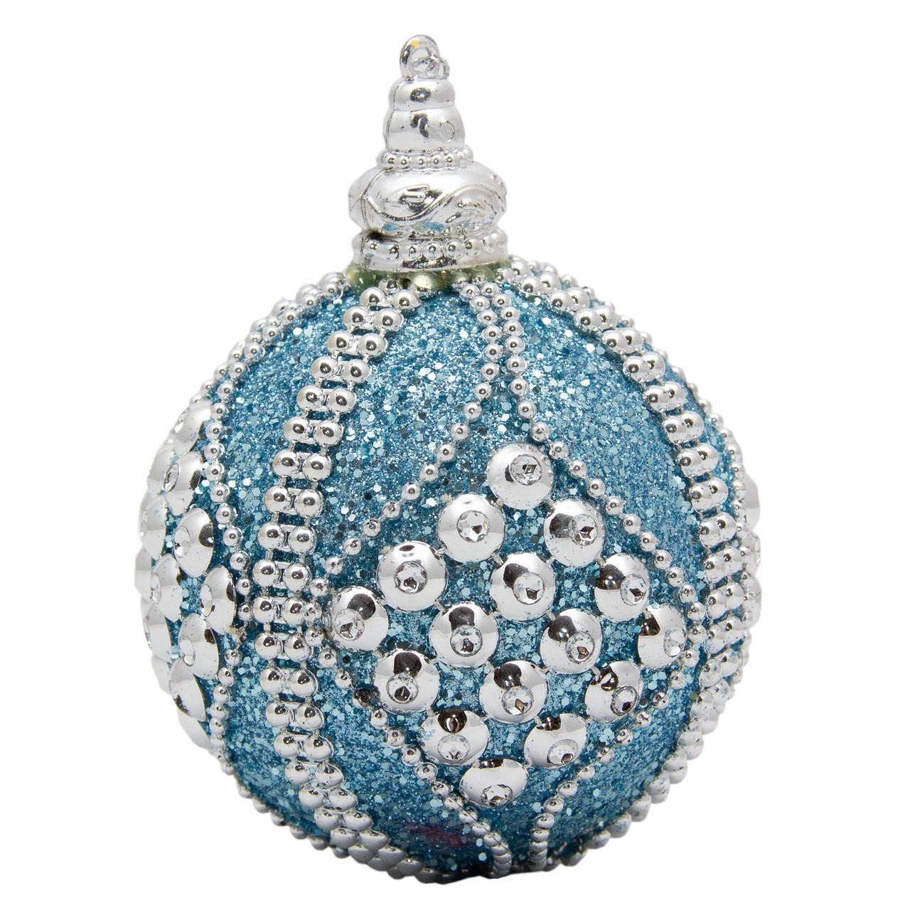 Елочное украшение в форме шара, голубой (661435-4)