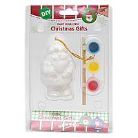 Детский набор для творчества - Дед Мороз, 3 краски, кисточка, 12,5*4,8*17,5 см, (791644)