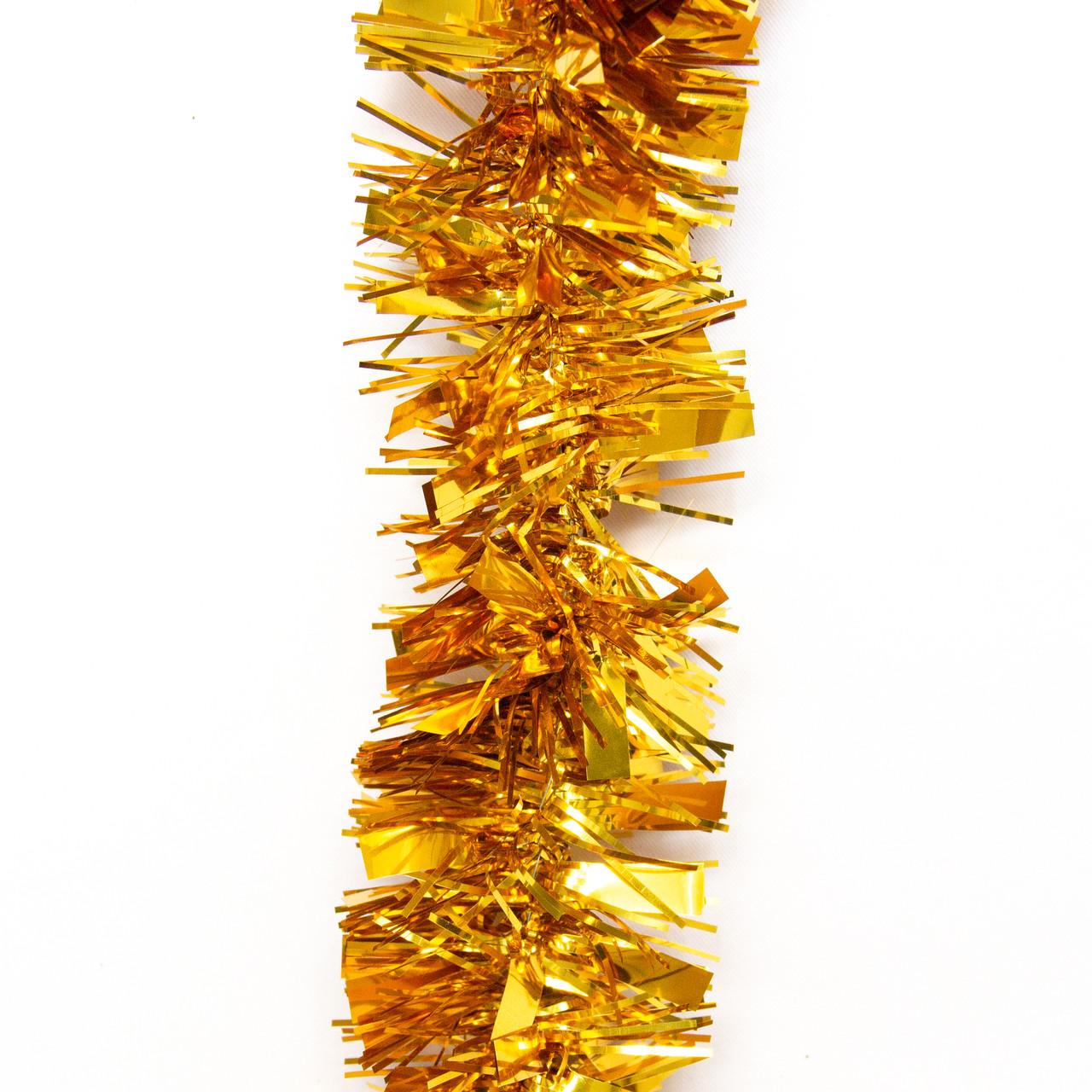 Новогоднее украшение - мишура, 200*5 см, ПВХ, золотистый (ГН-50/2-2)