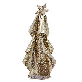 Настольная елка, 15 см, золотистый, проволока (001309-2)