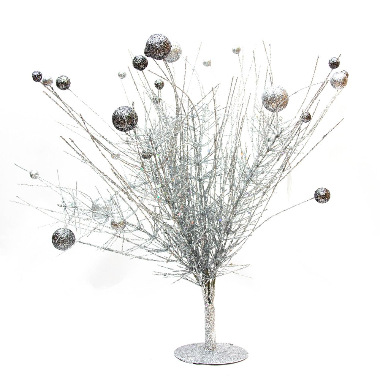 Дерево на подставке, 45см, серебро (770021-1)