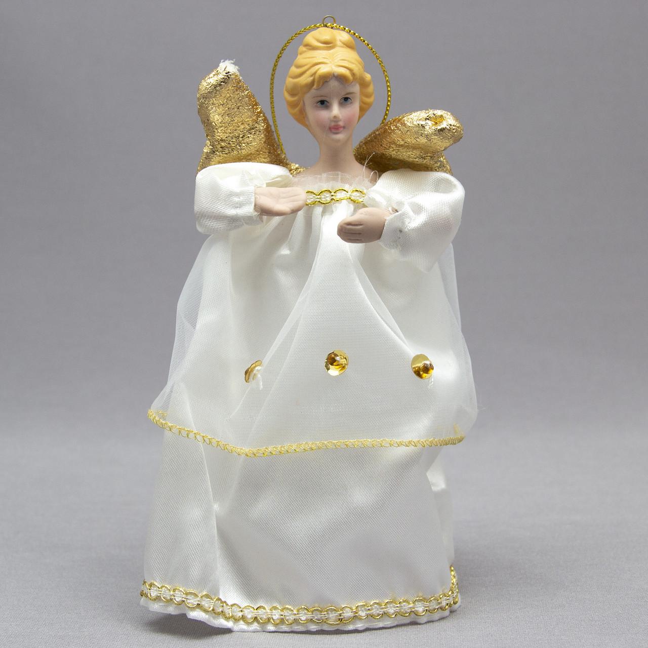Фигурка сувенирная - Ангелы с крыльями 15 см, золотой ангел (000319-1)