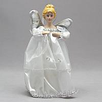Фигурка сувенирная - Ангелы с крыльями 15 см, серебряный ангел (000319-2)