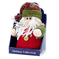 Мягкая игрушка сувенирная, Красный Дед Мороз с красной шапкой, 14 см (000029-5)