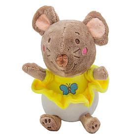 М'яка іграшка коричнева ЩУР в жовтій сукні, 14 см, коричневий.