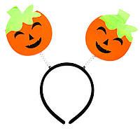 Черный Обруч хэллоуин с тыквами (513290-1)