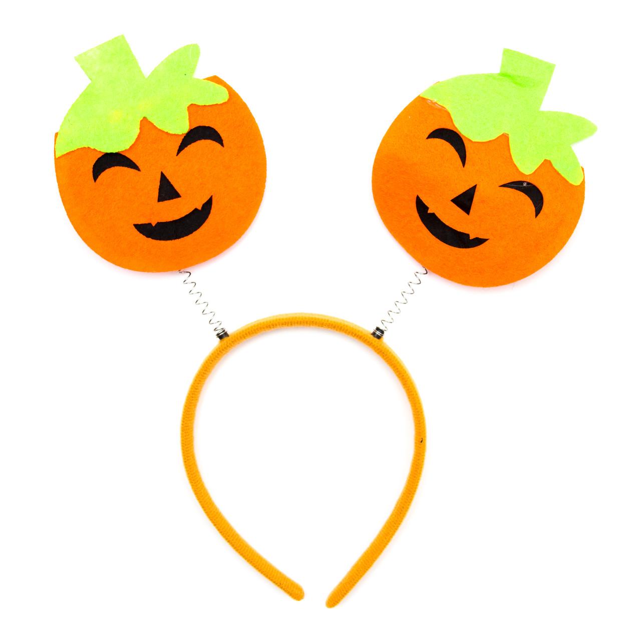 Карнавальный обруч с тыквами, оранжевый (513290-2)