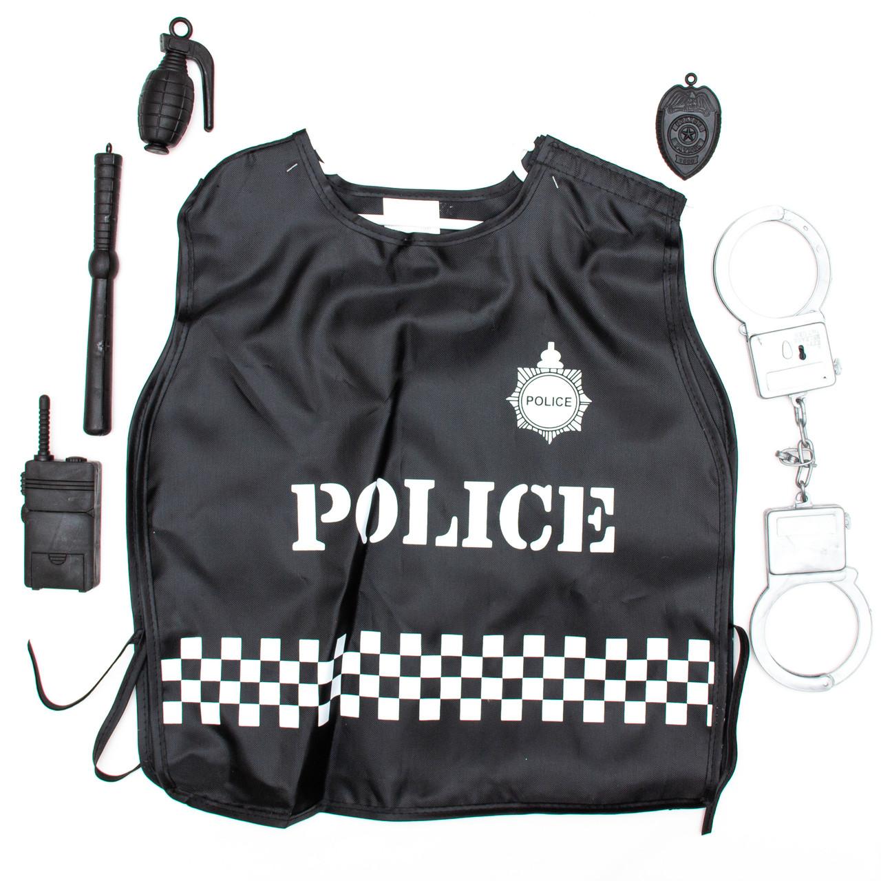Карнавальный игровой набор полицейского - 45x37 см, с аксессуарами (513078)