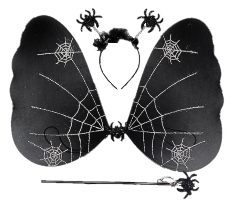 Карнавальный костюм черная бабочка в паутине (HLJ170419-19)