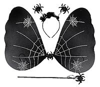 Карнавальный костюм черная бабочка в паутине (HLJ170419-19), фото 1