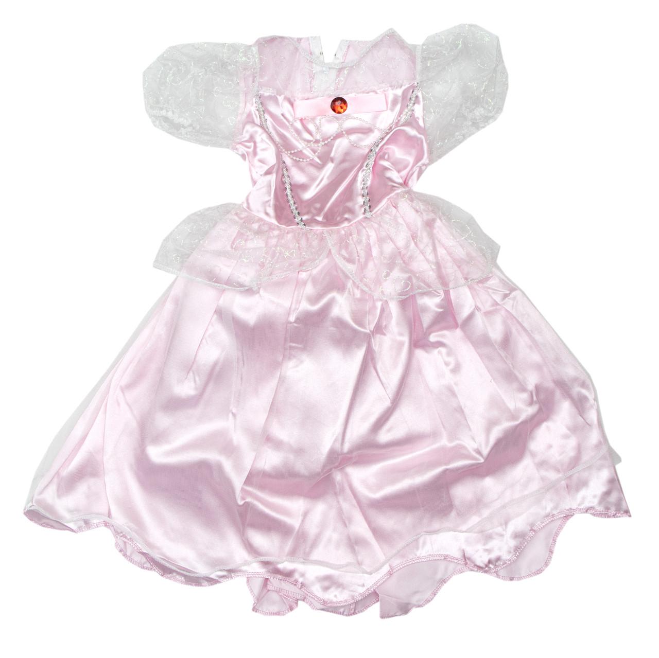 Костюм детский карнавальный принцесса в розовом платье, рост 92-104 см, черный (EE205А)