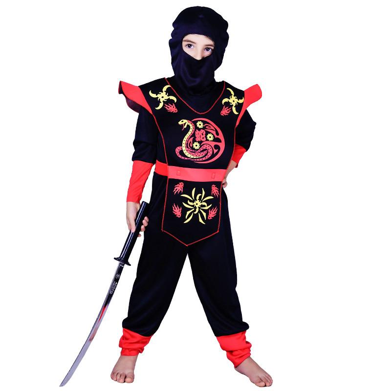 Костюм детский карнавальный ниндзя, рост 92-104 см, черный (EE208А)