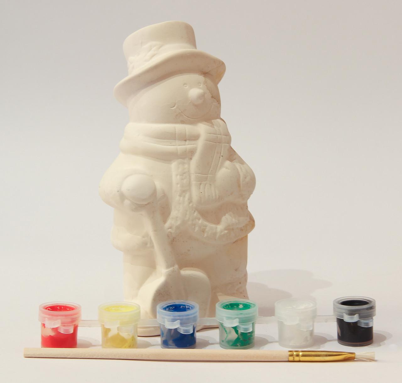 Набор для детского творчества - снеговик, 6 красок, (021642)