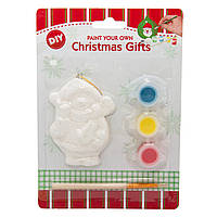 Детский набор для творчества - снеговик, 3 краски, кисточка (791651)
