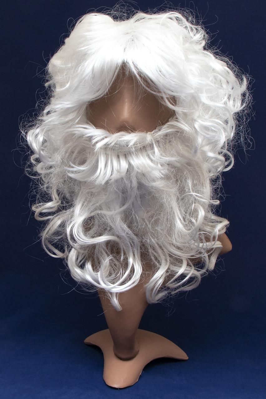 Карнавальный парик Деда Мороза с бородой (460991)