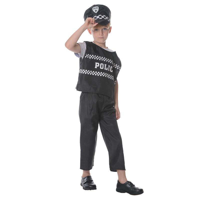 Костюм детский карнавальный полицейский, рост 92-104 см, черный (CC558A)