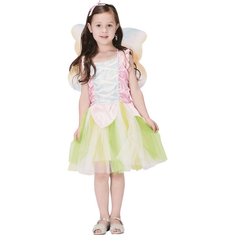 Костюм детский карнавальный лесная фея, рост 110-120 см, белый (CC286B)