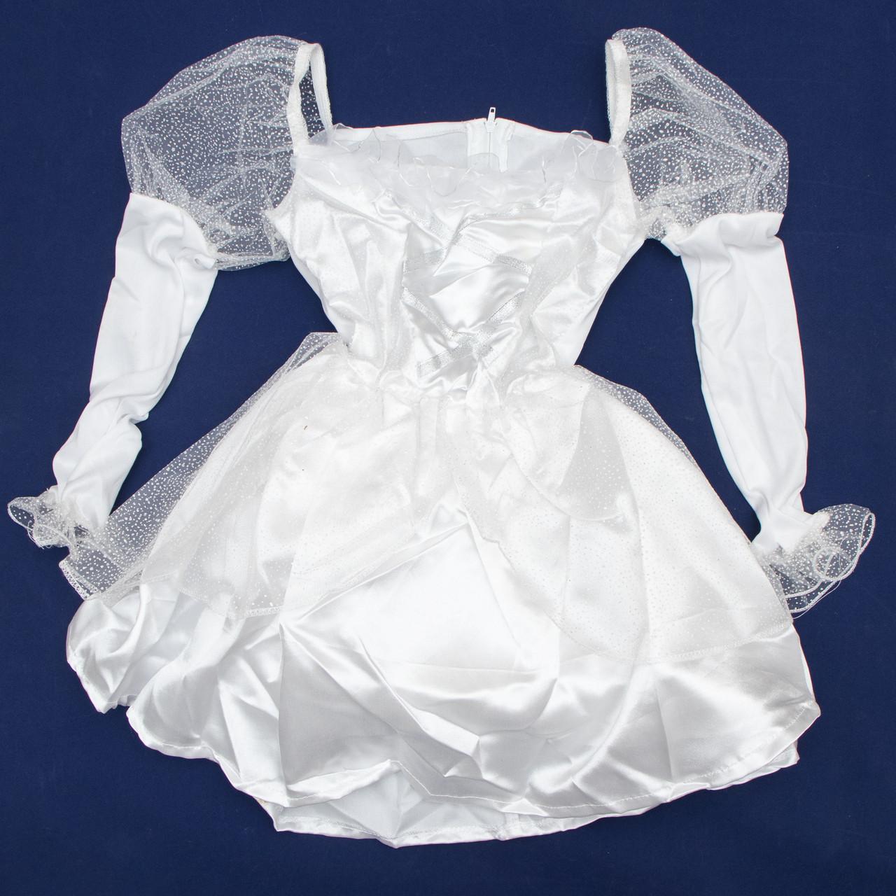 Платье карнавальное, белое, 8 (8 лет - 126 см) (460861-3)