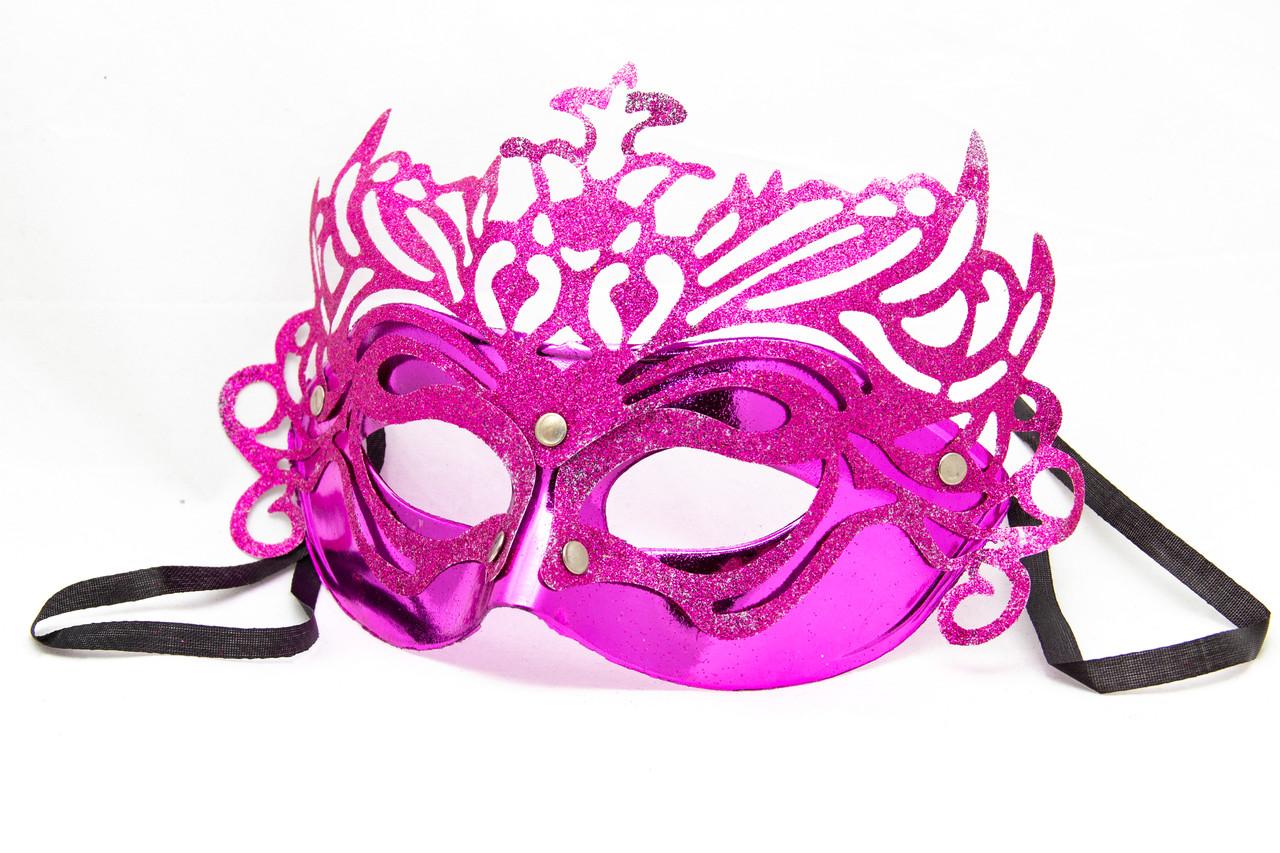 Маска карнавальная, 19*15 см, розовая (461714-9)
